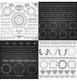 Mix of Black and Chalk Drawing Rustic Design vector image vector image