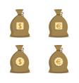 money bag set vector image vector image