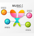 musical colorful infographic concept vector image vector image