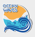 natural ocean waves with nice lanscape vector image vector image
