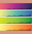 panama city multiple color gradient skyline banner vector image vector image