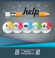 pencil education help idea icon business vector image vector image