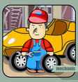 person profession mechanic vector image vector image