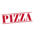 pizza red grunge vintage stamp isolated on white vector image vector image