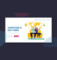 planning and buying trip website landing page vector image