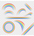 Rainbow icons set realistic vector image vector image