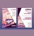 restaurant promo poster carton template vector image vector image
