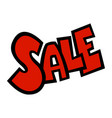 sale text badge sign vector image vector image