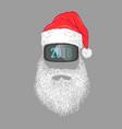 santa claus wearing virtual reality glasses vector image vector image