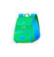 school bag isolated on white background vector image vector image