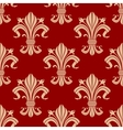 Seamless fleur-de-lis pattern on red background vector image vector image