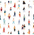 seamless pattern with people in fashionable vector image vector image