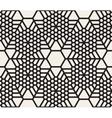 Seamless Snowflake Grid Geometric Pattern vector image
