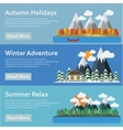 Seasons of the year Mountains and river vector image