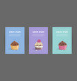 set booklet cover template with sweet dessert on vector image