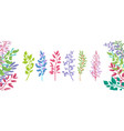 set colorful branches icons vector image