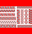 set of 12 ethnic patterns for embroidery stitch vector image
