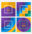set of colorful cards modern abstract design vector image vector image