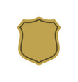 shield shape gold icon simple flat logo on white vector image vector image