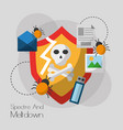 spectre and meltdown vulnerability system vector image vector image