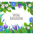 spring and summer banner template vector image vector image