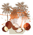 summer tropical background sale vector image vector image