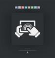 tablet touchscreen vector image vector image
