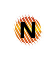 technology letter n vector image vector image