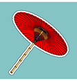 Traditional Chinese red umbrella vector image vector image