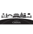 Travel China City Silhouette vector image vector image