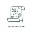 treasure map line icon linear concept vector image vector image