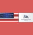 Usa veterans day horizontal banner with united
