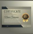 vip premium certificate design template vector image vector image