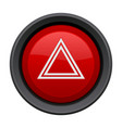 warning light red button car dashboard element vector image