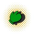 Work glove icon comics style vector image