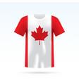 canada flag t-shirt vector image