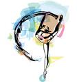 Drawing of Abstract ballerina dancing vector image