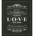 Happy mothers day typography design on blackboard vector image