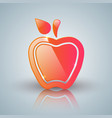 red apple icon with white reflect vector image