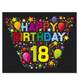 18th Birthday Card vector image vector image