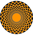 a round ornament of triangles of black and orange vector image vector image