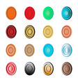 abstract target and egg logo set vector image