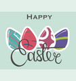 banner with hand drawn lettering and eggs vector image vector image
