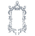 baroque inspired ornate frame vector image