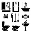 bathroom equipment vector image vector image