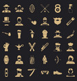 beard icons set simple style vector image vector image