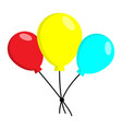 blue yellow and red balloons vector image