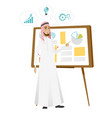 businessman giving business presentation vector image vector image