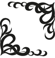 Calligraphic design element of frame and page vector image