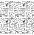 coffee elements seamless pattern backgroundhand vector image vector image